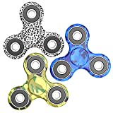Luscreal Fidget Spinner [Anti Anxiety] Colorful Figit Hand Toy for Relieving Boredom ADHD Autism(3 pack Mix Leopard Brown+Mouflage Green+Mouflage Blue)