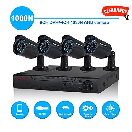 Home Security Camera System Abowone 8CH 1080N CCTV DVR Recorder 4 x 1080P 1920TVL Outdoor Video Surveillance Cameras /65foot Night Vision [並行輸入品] B01NCRK7E4