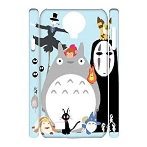 3D Samsung Galaxy S4 Cases Studio Gihibli Characters from Spirited Away, Totoro, Ponyo, Princess Mononoke, and so On, - [White] Bloomingbluerose