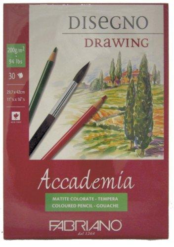 Fabriano Accadem Dess carta da disegno A514, 8x 21cm bianco 44201421
