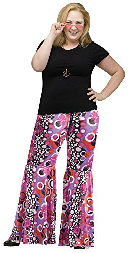 Flower Child Bell Bottoms Costume - Plus Size 1X - Dress Size (Bell Bottoms Halloween Costume)