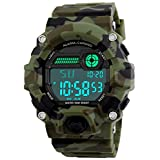 Kids Military Digital Watch With Timer - Waterproof Sports Watch Army Alarm Wrist Watches For Boys SEEWTA