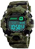 Kids Digital Watches, Boys Sports Military Watch with Alarm/Timer/Shock Resistant, Teenagers Childrens 5 Bars Waterproof Big Face Camouflage Electronic Wrist Watch for Boys by BHGWR