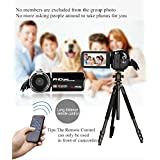 Remote Control Camcorder, Digital Camcorder Video Camera with 3.0 TFT-LCD Touch Screen,Mini camcorder for kid-Black
