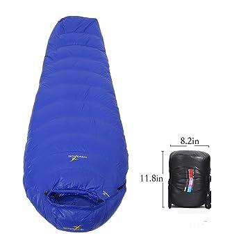 quality design 0f0ac 46b44 WINGACE -10 Degree Sleeping Bag, 1500g Fill,Down, Three-Season, Mummy,  Ultralight, with Compression Sack