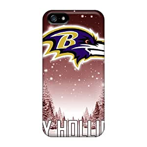 Marycase88 Iphone 5/5s Bumper Cell-phone Hard Cover Support Personal Customs Lifelike Baltimore Ravens Image [cyE7414npIv]