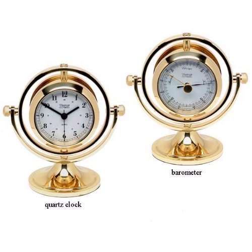 Weems & Plath Gimbaled Skipjack Clock and Barometer