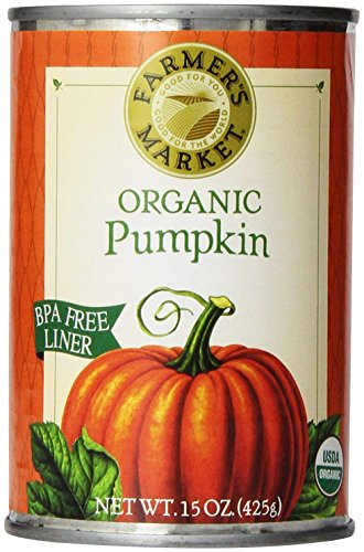 Farmers Market Organic Pumpkin, 15 Ounce (Pack of 12) (Packaging May Vary) -