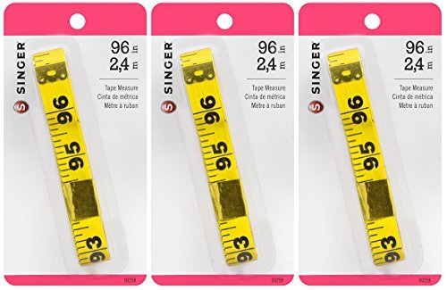 "Vinyl Tape Measure-96"" Yellow"