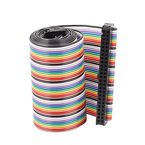 2.5' Color Lcd Monitor - Uxcell IDC Flat Ribbon Cable Connector, F/F, 50P, 50 Way, 66 cm Length, 2.54 mm Pitch, Rainbow