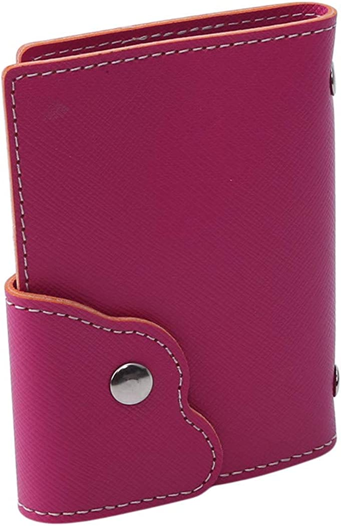 LIUCM Card Cover Women Card Wallet Ladies Bank Credit Buckle Lace Large Capacity Set 20 Card Slots Card Holder