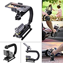 Fantaseal® Action Camera Camcorder Handheld Stabilizer C-Shape Grip Camera Rig Support Low Position Shooting System GoPro Stabilizer Holder Support Stand w/ 1/4'' Thread for SONY FDR-X3000R FDR-X1000VR HDR-AS300R HDR AS10 AS15 AS20 AS30 AS50 AS100 AS200 HDR AZ1 Stabilizer Handle Handheld Grip SteadyCam Selfie Stick