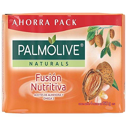 4 piezas de Jabón de Tocador Palmolive Naturals Almendra y Aceite de Omega en Barra 150 G