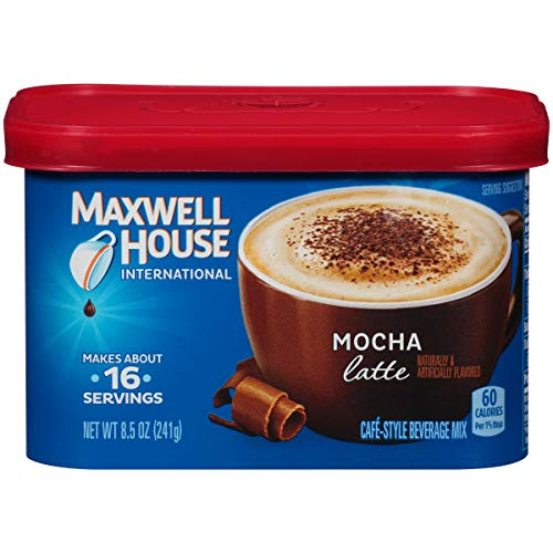 Maxwell House International Cafe Instant Mocha Latte (8.5 oz Canister, Pack of 4) (Coffee Mocha House)