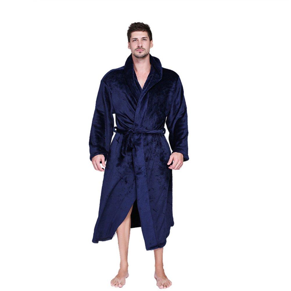 Mokylor Hooded Oblique Pocket Flannel Bathrobe Winter Warm Couple Pajamas Sleepwear