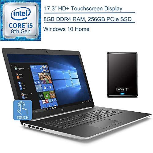 2020 HP 17.3″ Touchscreen Laptop Computer/ Intel Quad-Core i5-8265U (Beats i7-7500U)/ 8GB DDR4 RAM/ 256GB PCIe SSD/Windows 10 Home/ Silver/ EST 320GB External Hard Drive