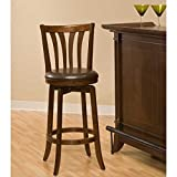 Hillsdale Savana Swivel Counter Stool, Cherry