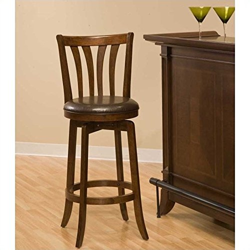 Hillsdale Savana Swivel Counter Stool, (Spindle Back Cherry)