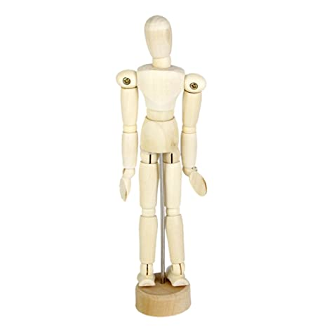 amazon com wooden human mannequin unisex 5 5 inch tall