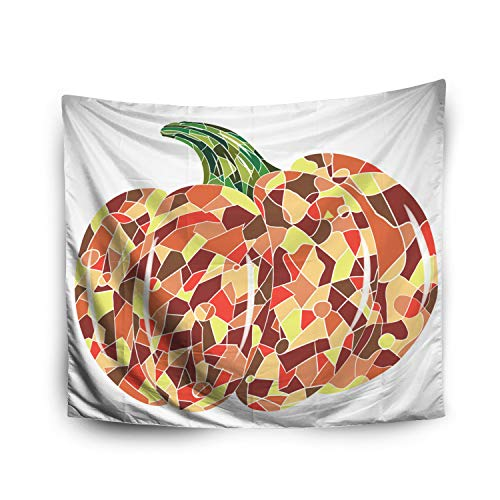 Jacrane Tapestry Wall Hanging with 60x80 Inches Halloween Pumpkin Mosaic Art Art Tapestries for Bedroom Living Room Home Decor Wall Hanging Tapestries]()