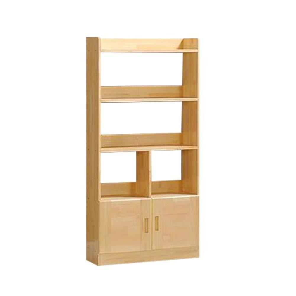 松木材書棚ドア付き子単純な本棚現代の収納ラック TIDLT (サイズ さいず : 70x24x145cm) B07QFPR3XV  70x24x145cm
