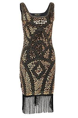 BABEYOND Great Gatsby 1920s Art Deco Flapper Style Vintage Dress