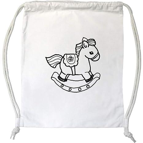 Borsa Cavallo A Dondolo.Azeeda Cavallo A Dondolo Coulisse Borsa Da Ginnastica