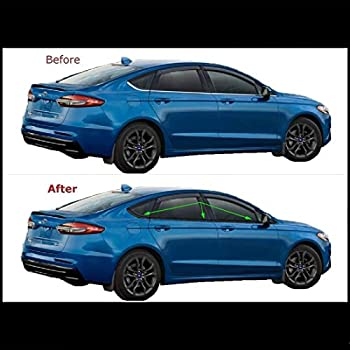 2013-2019 Ford Fusion GLOSS BLACK Door Handle Covers Trims w//4 Smart Keys