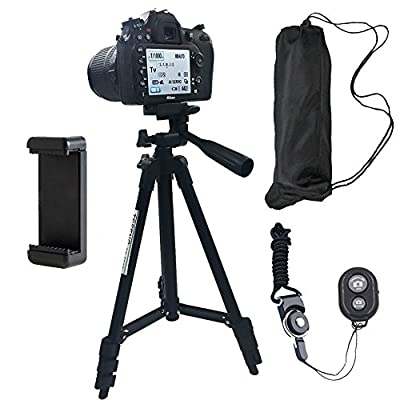 DAISEN 50-inch aluminum mobile phone tripod for iphone universal smartphone cell phone camera tripod Arbitrary installed With remote control by DAISEN