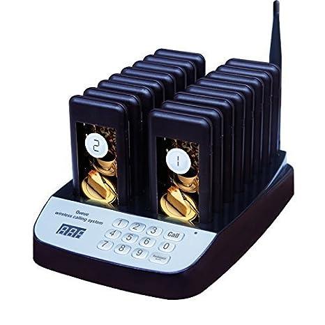 Portavasos Buscapersonas (Pager) - Sistema inalámbrico llamador de clientes para restaurantes de autoservicio: Amazon.es: Bricolaje y herramientas