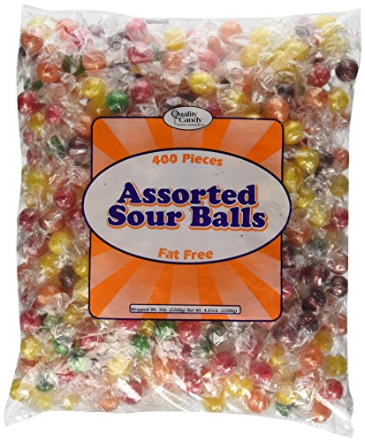 Sour Fruit Balls Candy 5LB Bag ()