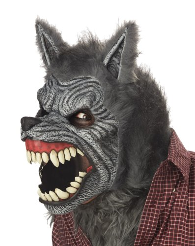 California Costumes Werewolf Mask,Assorted,One (Scary Wolf Costumes)