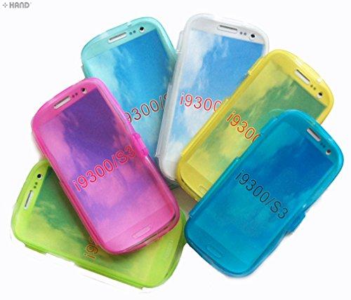 Samsung Galaxy S3 SIII (i9300) di plastica flip Colourful C-Thru Custodia protettiva - Acquista 1 ottenere 1 gratis!