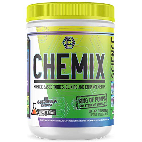 Chemix- King of Pumps- Nitric Oxide Boosting Formula, Increased Vascularity, Unreal Endurance, Powerful NO Booster for Muscle Growth, EndoPump, Orange Sherbert Flavor