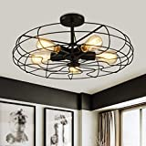 Thing Industrial Creative Personality Light Restaurant Balcony Retirement Home of European Style Ceiling Fan Light -55 * 25 * 12cm