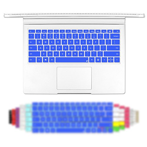 Masino Silicone Keyboard Cover Ultra Thin Keyboard Skin for 13 inch Microsoft Surface Book (Silicon Keyboard Skin-Royal Blue)