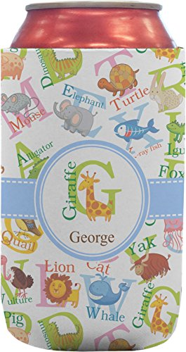 Animal Alphabet Can Sleeve (12 oz) (Personalized) by RNK Shops