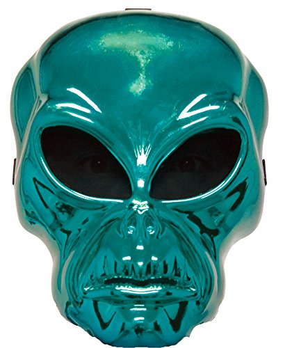 Alien Hockey Green Mask Halloween Costume - Most Adults (Hockey Mask Halloween Costume)