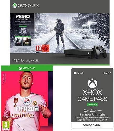 Microsoft Xbox One X - Consola 1 TB + Metro Exodus Collection + ...