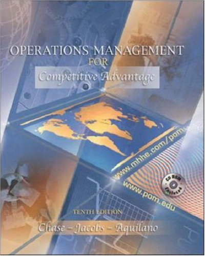 Operations Management for Competitive Advantage with Student-CD