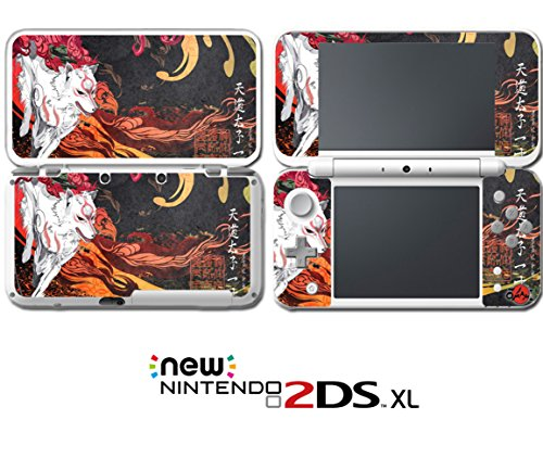 Okami Japanese Art Wolf God Okamiden Puppy  Video Game Vinyl Decal Skin Sticker Cover for Nintendo New 2DS XL System Console