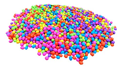 Filled Candy (1500 Multi-Color Bulk Easter Eggs with Brach's Jelly Beans Candy)