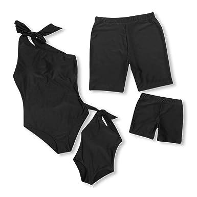 269d74b932 Yaffi Family Matching Swimwear 2019 Newest One Piece Bathing Suit Sloping  Shoulder Monokini Beach Wear Men