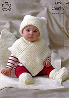 Baby Babies Knitted Poncho Hooded Winter Pram Coat Blanket Newborn By BABYTOWN