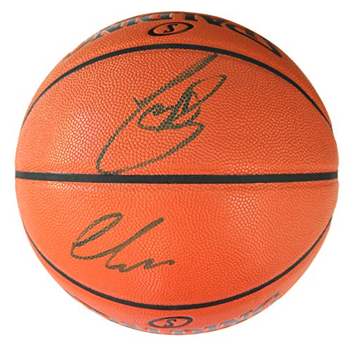 Luka Doncic and Dirk Nowitzki Dallas Mavericks Dual Signed Autographed Spalding Game Ball Series Basketball JSA COA ()
