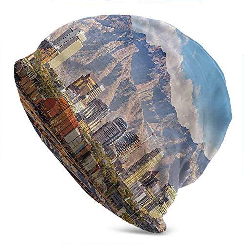 Costume Stores In Salt Lake City (Unisex Beanie Caps Landscape,Salt Lake City Utah USA Knit Hat Cap Winter Summer)