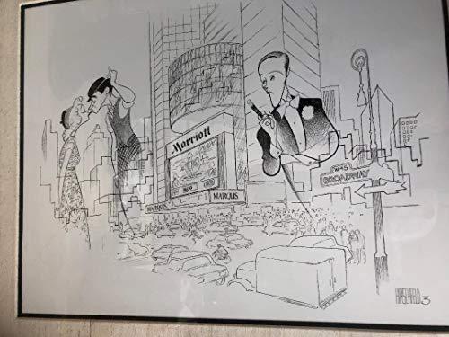 - Al Hirschfeld's 10TH ANNIVERSARY OF THE MARRIOTT MARQUIS HOTEL Original Pen & Ink Drawing