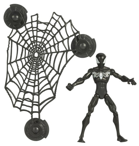 Spectacular Spider Man The Alien Costume (Spiderman Animated Action Figure Black-Suited Spiderman)