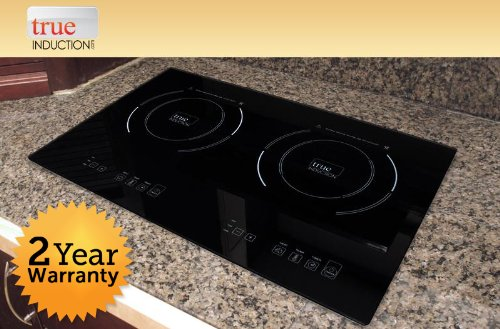 True Induction TI-2B Counter Inset Double Burner Induction Cooktop, 120V, Black (Stove Cooktop Induction)