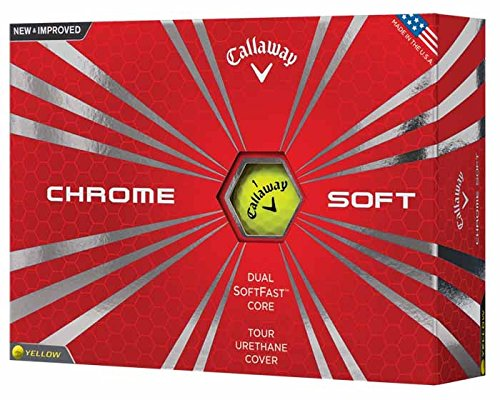 Callaway Chrome Soft 2016 Golf Balls, Yellow